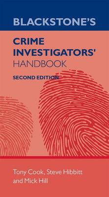 Blackstone's Crime Investigators' Handbook (Paperback)