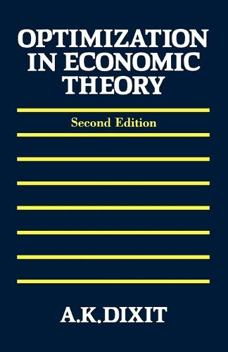 Optimization in Economic Theory (Paperback)
