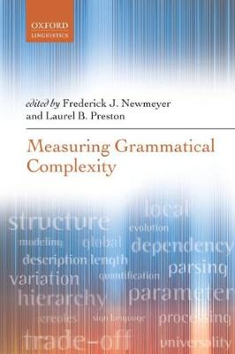 Measuring Grammatical Complexity (Paperback)