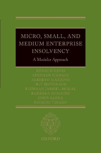 Micro, Small, and Medium Enterprise Insolvency: A Modular Approach (Hardback)