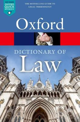 A Dictionary of Law - Oxford Quick Reference (Paperback)