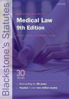 Blackstone's Statutes on Medical Law - Blackstone's Statute Series (Paperback)