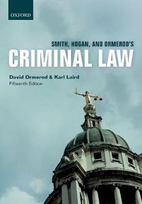 Smith, Hogan, & Ormerod's Criminal Law (Paperback)