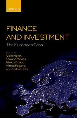 Finance and Investment: The European Case (Paperback)