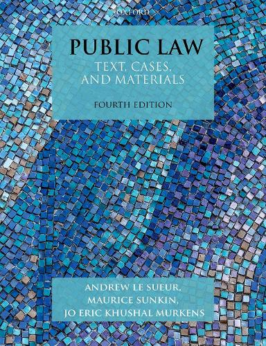 Public Law: Text, Cases, and Materials - Text, Cases, and Materials (Paperback)