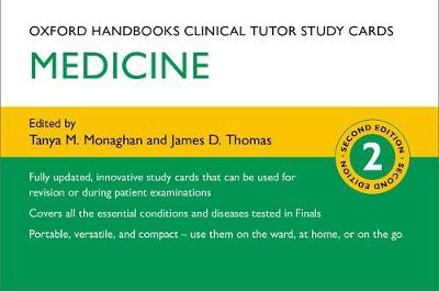Oxford Handbooks Clinical Tutor Study Cards: Medicine - Oxford Handbooks Study Cards