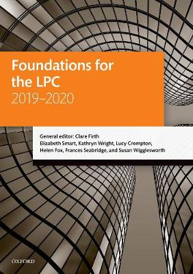 Foundations for the LPC 2019-2020 - Legal Practice Course Manuals (Paperback)