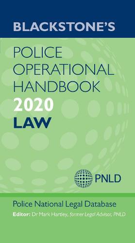 Blackstone's Police Operational Handbook 2020: Law (Paperback)