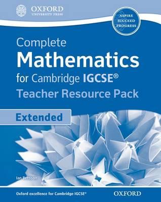 Complete Mathematics for Cambridge IGCSE Teacher's Resource Pack