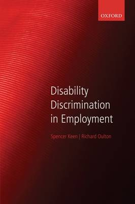 Disability Discrimination in Employment (Paperback)