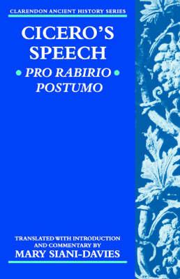 Cicero: Pro Rabirio Postumo - Clarendon Ancient History Series (Paperback)