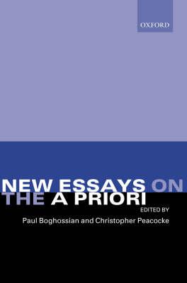 New Essays on the A Priori (Hardback)