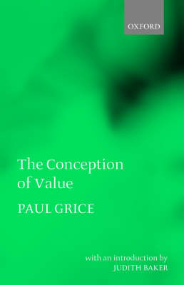 The Conception of Value (Paperback)