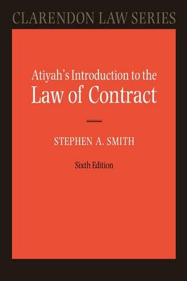 Atiyah's Introduction to the Law of Contract - Clarendon Law Series (Paperback)