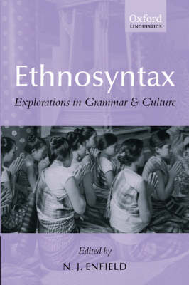 Ethnosyntax: Explorations in Grammar and Culture (Paperback)