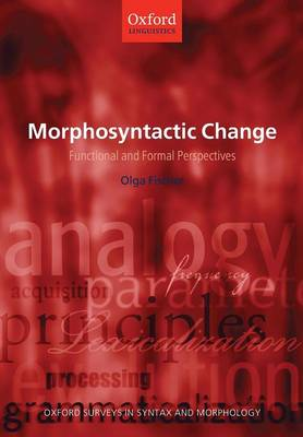 Morphosyntactic Change: Functional and Formal Perspectives - Oxford Surveys in Syntax & Morphology (Paperback)