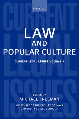 Law and Popular Culture - Current Legal Issues (Hardback)