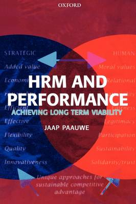 HRM and Performance: Achieving Long Term Viability (Paperback)