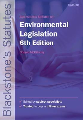 Blackstone's Environmental Legislation - Blackstone's Statute Book (Paperback)