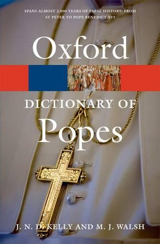 A Dictionary of Popes - Oxford Quick Reference (Paperback)