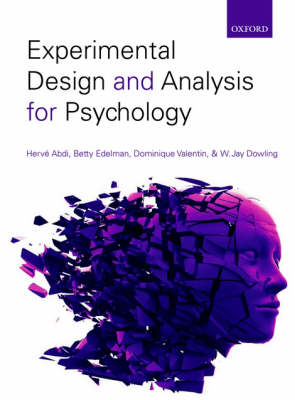Experimental Design and Analysis for Psychology (Paperback)