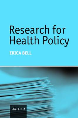 Research for Health Policy (Paperback)