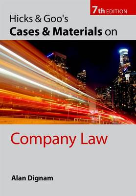 Hicks & Goo's Cases and Materials on Company Law (Paperback)
