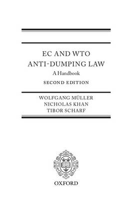 EC and WTO Anti-Dumping Law: A Handbook (Hardback)