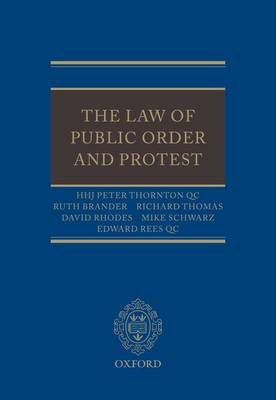The Law of Public Order and Protest (Hardback)