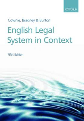English Legal System in Context (Paperback)