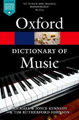 The Oxford Dictionary of Music - Oxford Quick Reference (Paperback)