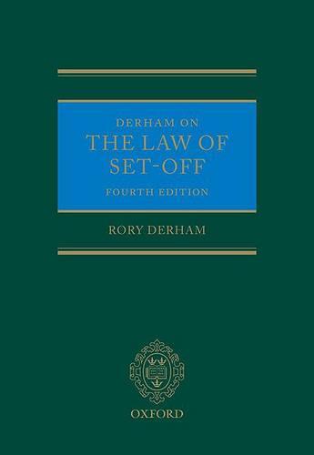 Derham on the Law of Set-Off (Hardback)