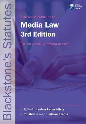 Blackstone's Statutes on Media Law - Blackstone's Statute Series (Paperback)