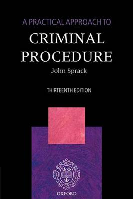 A Practical Approach to Criminal Procedure (Paperback)