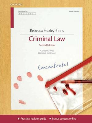 Criminal Law Concentrate: Law Revision and Study Guide (Paperback)