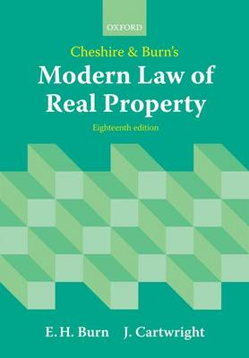 Cheshire and Burn's Modern Law of Real Property (Paperback)