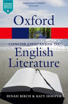 The Concise Oxford Companion to English Literature - Oxford Quick Reference (Paperback)