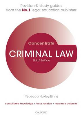 Criminal Law Concentrate: Law Revision and Study Guide - Concentrate (Paperback)