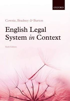 English Legal System in Context 6e (Paperback)