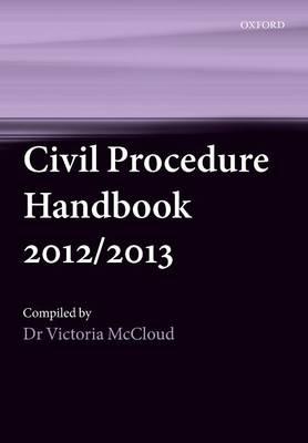 Civil Procedure Handbook 2012/2013 (Paperback)