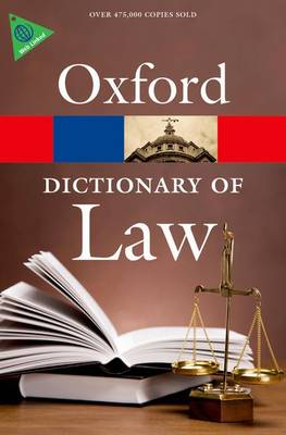 A Dictionary of Law - Oxford Paperback Reference (Paperback)
