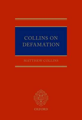 Collins On Defamation (Hardback)