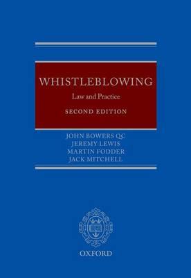 Whistleblowing: Law and Practice (Hardback)