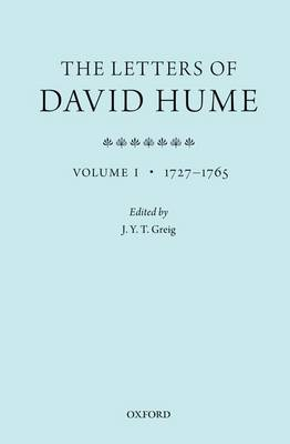 The Letters of David Hume: Volume 1 (Paperback)