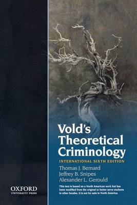 Vold's Theoretical Criminology (Hardback)