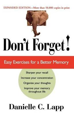 Don't Forget: Easy Exercises for a Better Memory (Paperback)