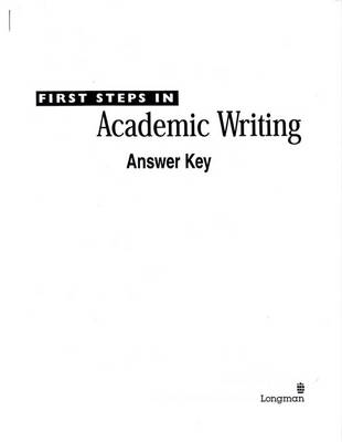 First steps in academic writing the longman academic writing series first steps in academic writing the longman academic writing series level 2 fandeluxe Choice Image