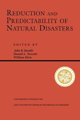 Reduction And Predictability Of Natural Disasters (Paperback)
