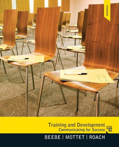 Training & Development: Communicating for Success (Paperback)