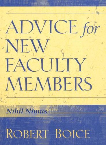 Advice for New Faculty Members (Hardback)